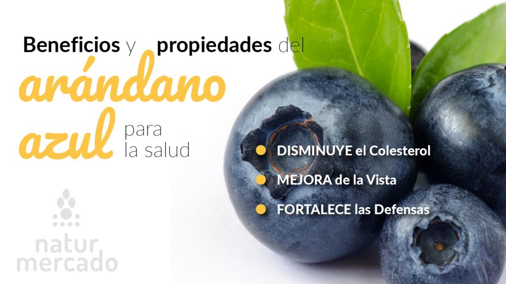 Beneficios y propiedades de los arándanos azules