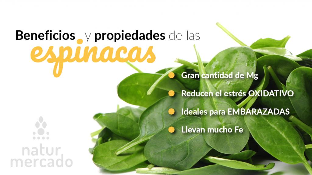 Beneficios y Propiedades de las espinacas