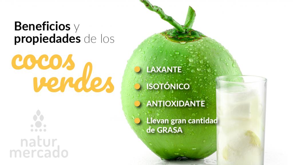Beneficios y propiedades de los cocos verdes