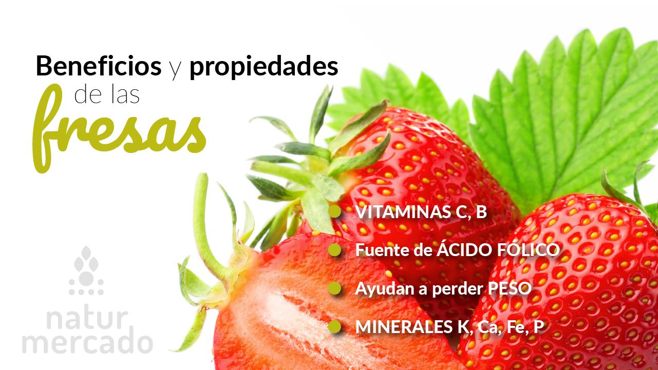 Beneficios y propiedades de las fresas