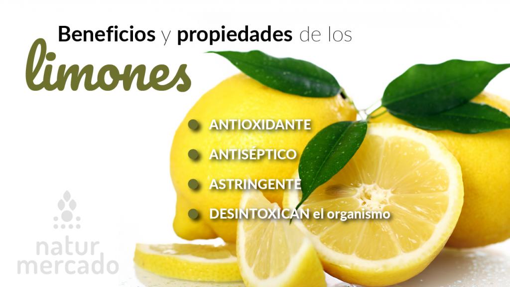Beneficios y propiedades de los limones