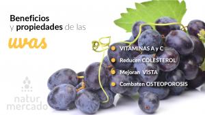 Beneficios y Propiedades de las uvas