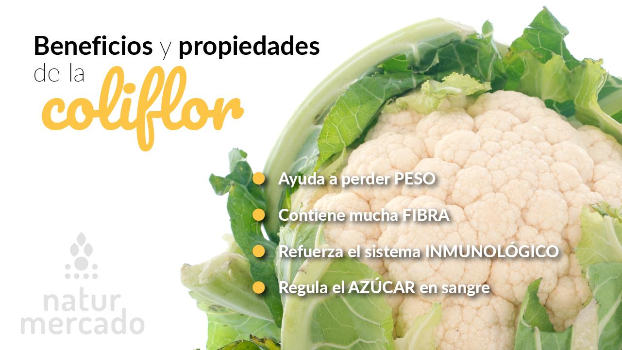 Beneficios y propiedades de la coliflor