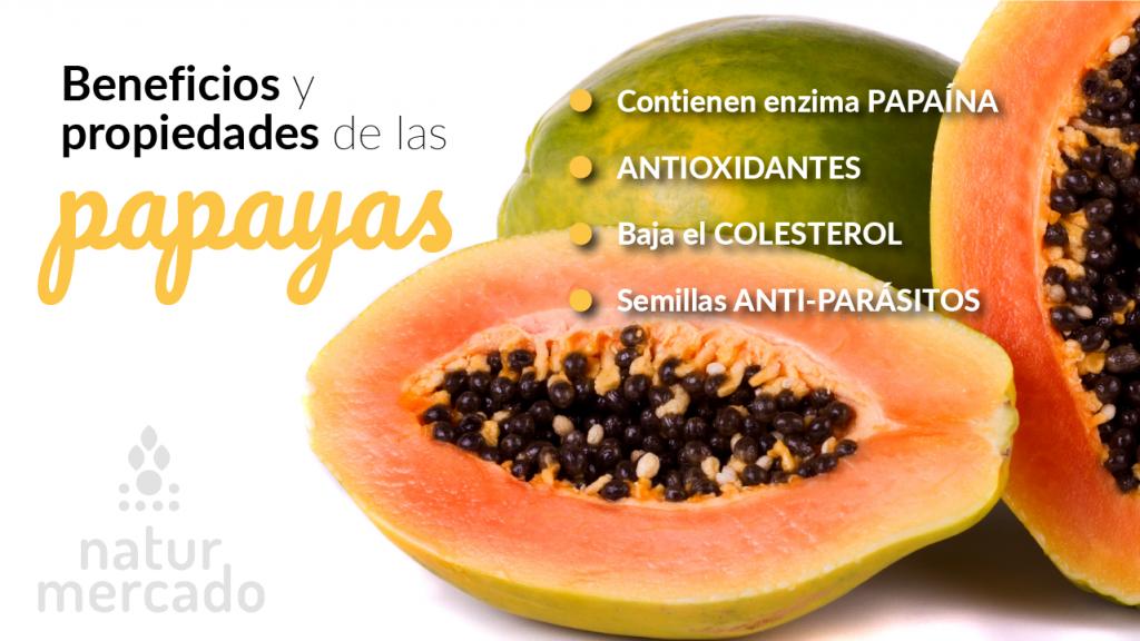 Beneficios y propiedades de las papayas