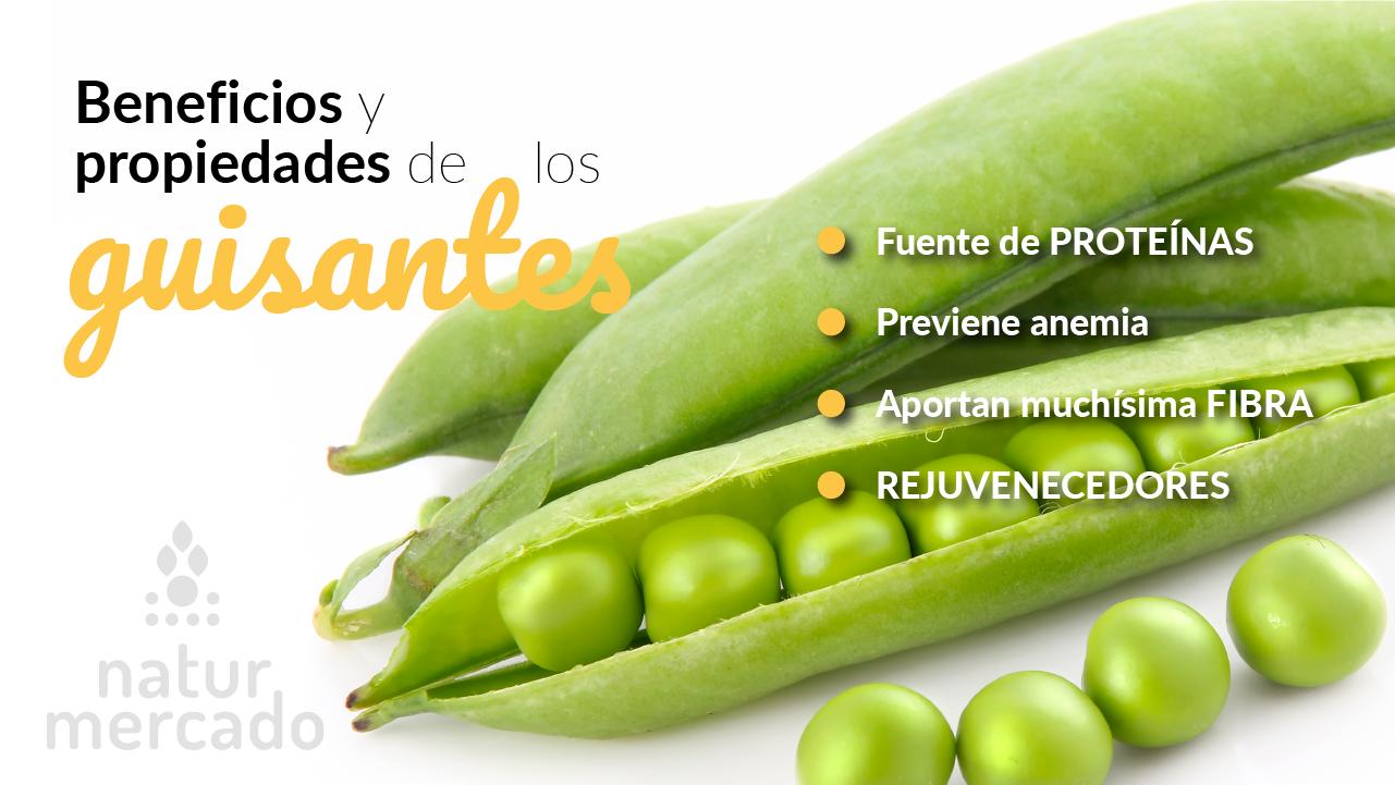 Beneficios y propiedades de los guisantes