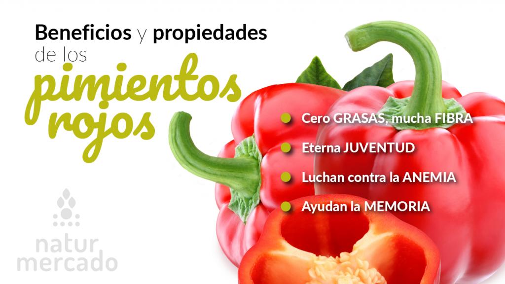 Beneficios y propiedades de los pimientos rojos