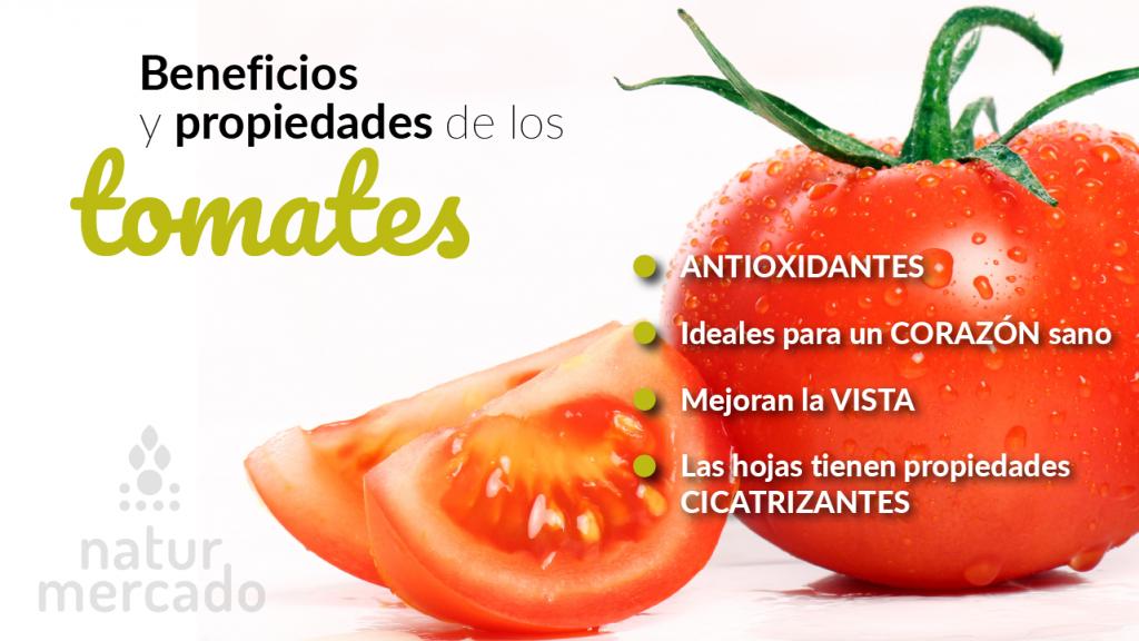 Beneficios y propiedades de los tomates
