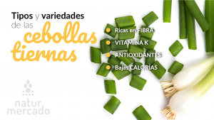 Beneficios y propiedades de las cebollas tiernas